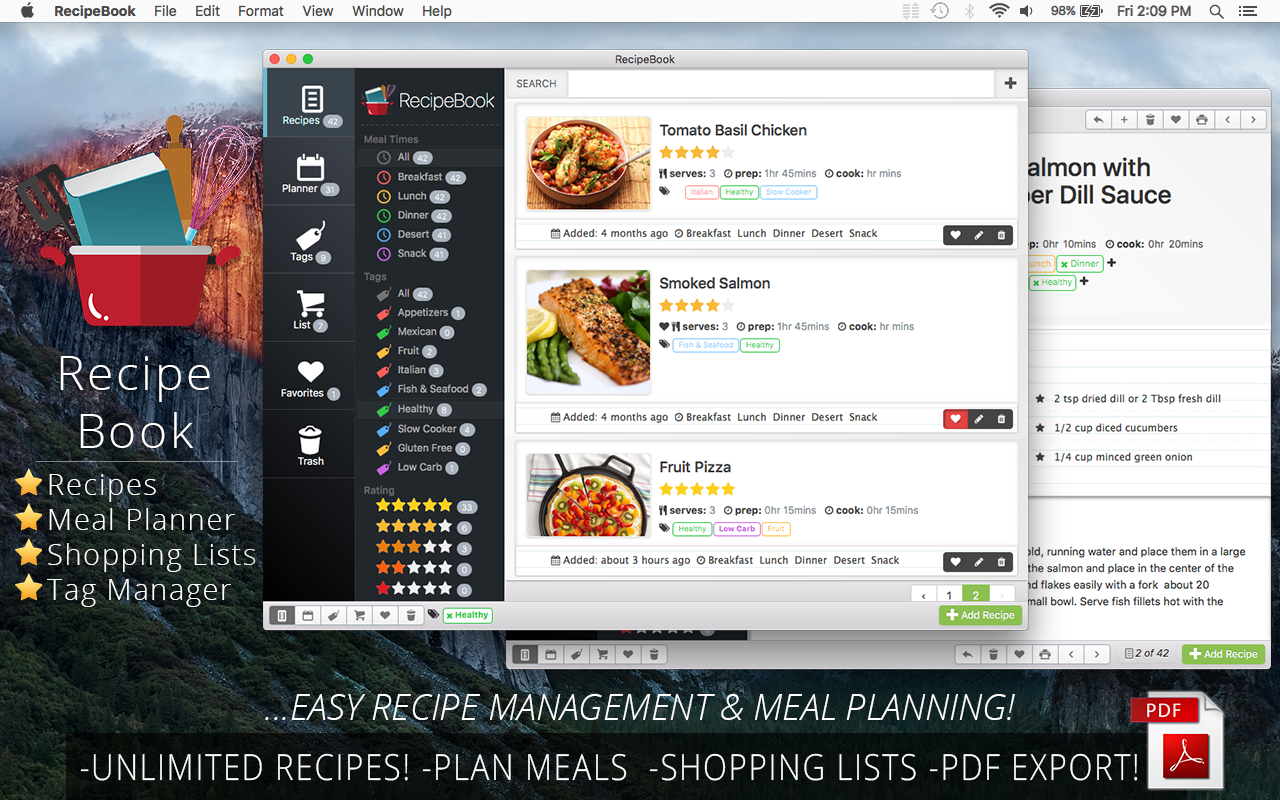 recipe manager software mac free dandk organizer. Black Bedroom Furniture Sets. Home Design Ideas